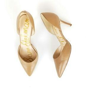 SAM EDELMAN Telsa D'Orsay Tan Leather Heels